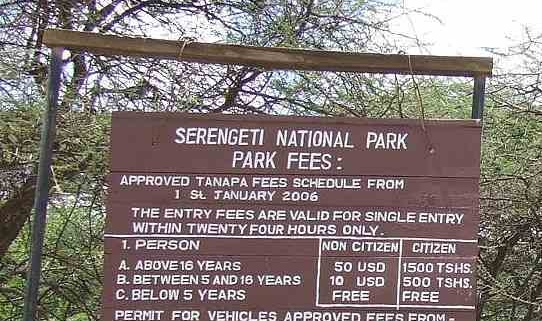 Serengeti park entry fees