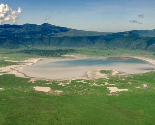 Ngorongoro crater Size